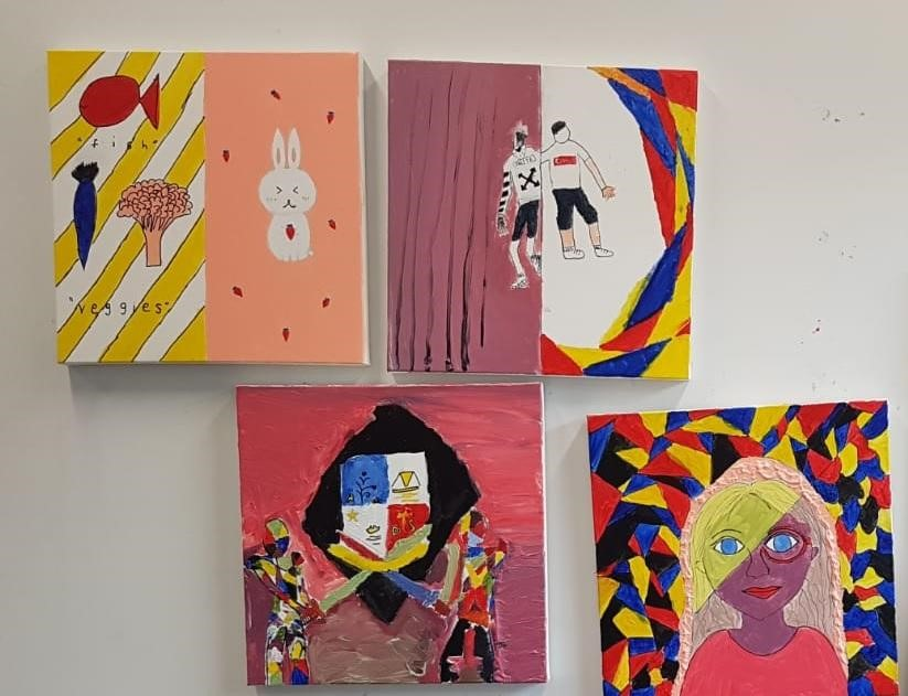 Paintings by the students.jpg
